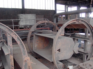 Kippvorrichtung für Hunte - Bergbau, Zeche, Zollverein in Essen, Kohle, Transport, Hunt, Kippvorrichtung, Industriedenkmal, Bergbaumuseum