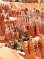 Bryce Canyon #1 - Wüste, Felsnadel, Hoodoo, Nationalpark, Naturwunder, Utah, Sandstein, Kalk, Basalt, Geologie, Gestein, Felsen, USA, Landschaft, Südwesten, Colorado-Plateau, Eisenoxid, Manganoxid, Wüstenklima, Erosion, Sediment