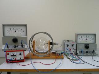 Massenbestimmung mit dem Fadenstrahlrohr #6 - Kräfte im Magnetfeld, Fadenstrahlrohr, Masse des Elektrons, spezifische Ladung, Helmholzspule, Elektronenstrahl, Ablenkung, Kreis, Lorentzkraft, Zentripetalkraft