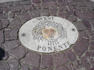 Rom - Petersplatz Westponente - Italien, Rom, Platz, Boden, Wind, Pflastersteine, Kopfsteinpflaster, Marmor, Marmorplatte, Wangen, Backe, West Ponente, Petersplatz, Kopf