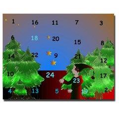 Adventkalender - Adventkalender, Fee, Wald, Kalendertürchen, Vierundzwanzig