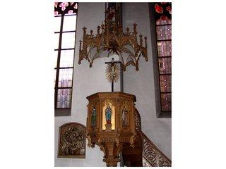 Kanzel - Kanzel, Predigt, Kirche, Verkündigung, Botschaft, Pfarrer, Pastor, Dach, Akustik, Treppe, Schmuck, Gotik, Schall, Schalldeckel