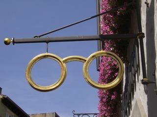 Ausleger *Optiker* - Ausleger, alt, Werbung, Brille, schmiedeeisern, Eisen