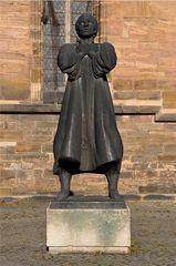 Münzer-Denkmal - Münzer, Müntzer, Thomas, Reformation, Luther, Denkmal, Plastik, Bronze, Zwickau, Skulptur, Bauernkriege