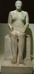 Wesir Hem-iunu - Ägypten, Antike, Hochkultur, Pharao, Cheops, vor 4500 Jahren, 2500 vor Chr., Kalkstein, Gizeh, Kairo, Wesir, Stellvertreter des Pharaos, Hem-iunu, Stellvertreter, Grab, Grabstatue