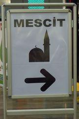 Moschee - Hinweisschild - Moschee, Hinweisschild