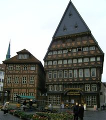 Knochenhaueramtshaus - Hildesheim, Marktplatz, Mittelalter, 1529, Gildehaus, Metzger, Knochenhauer, Knochenhaueramtshaus, Fachwerkhaus, Bäcker, Bäckeramtshaus, Zunft, Zünfte