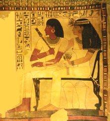 Sennefer - Sennefer, Grab, Grabgemälde, Ehepaar, Ägypten, Totenkult, Theben