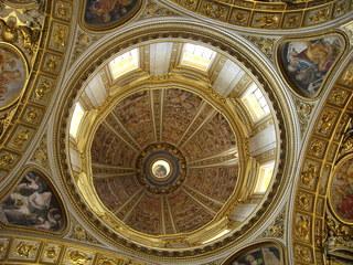 Rom - Kuppel des Petersdom - Italien, Rom, Kuppel, Dom, Kirche, Licht, Fresko, Fresken, Gold, bunt, hoch, Vatikan