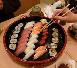 Sushi-Teller - Sushi, Japan, Reis, Fisch