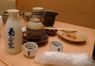 Sake-Gefäß #1 - Sake, Chopstick, Reiswein