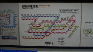 Ticketplan  in der U-Bahn in Tokyo - U-Bahn, Metro, Fahrplan, Japan, Tokyo