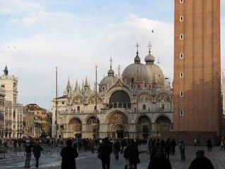Venedig - Basilica San Marco - Venedig, Kirche, Baukunst, byzantinischm venezianisch, Kuppel, San Marco, Basilica, Markusplatz