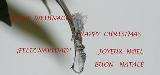 Grußkarte zu Weihnachten #4 - Weihnacht, navidad, natale, noel, christmas