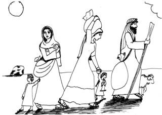 Israel in der Wüste - Israel, Mose, Wüstenwanderung, Auszug