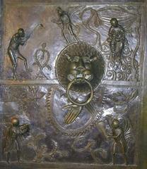 Bernwardstür - Hildesheimer Dom, Weltkulturerbe, Unesco, Bronzeguss, Bronze, Tür, Bernwardstür, ottonische Kunst, Bronzetür, biblischer Figurenschmuck, Bernward von Hildesheim
