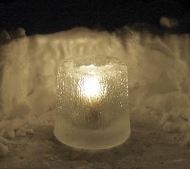 Eislicht #2 - Eislicht, Eisleuchte, Licht, Kerze, Winter, Eis, Schnee, weiß, Stimmung, leuchten