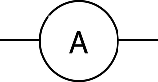 Amperemeter - klein - Amperemeter, Strommessgerät, Schaltsymbol, Stromstärke