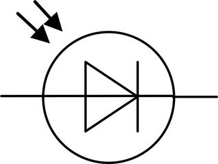 Fotodiode - Fotodiode, Diode, Schaltsymbol, Stromkreis