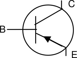pnp-Transistor - Transistor, pnp, Basis, Emitter, Kollektor, Schaltsymbol, Stromkreis