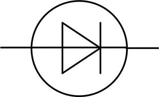 Gleichrichterdiode - groß - Gleichrichterdiode, Diode, Schaltsymbol, Stromkreis