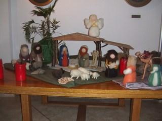 Krippe - Krippe, Geburt Jesu, Weihnachten, Fest, Weihnachtsfest, Kirche, Religion, Filz, Figuren