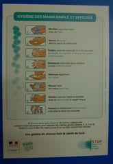 Hinweisschild -  Anleitung zum Händewaschen - Sauberkeit, Händewaschen, Hinweis, Hinweisschild, Hygiene
