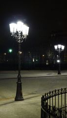 Straßenlaterne - Kandelaber, Straßenbeleuchtung, Beleuchtung, Lampadaire, Réverbère, Laterne, Straßenlaterne, Elektrizität, Strom