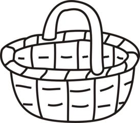 Korb - Korb, Körbchen, einkaufen, tragen, Anlaut K