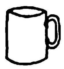Becher - Becher, Trinkgefäß, Geschirr, Heißgetränk, Trinkbecher, Kaffeebecher, Henkel, Flüssigkeitsmaß, Zylinder, Volumen, Tasse