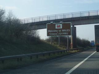 Welcome to Wales Schild - Wales, Schild, Hinweisschild