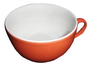 Geschirr Tasse - Geschirr, Tasse, trinken, Frühstück, Kaffee, Tee, Kaffeetasse, Teetasse, rot, weiß, Henkel