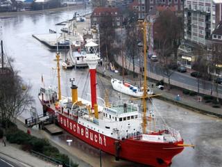 Feuerschiff Deutsche Bucht - Feuerschiff, Deutsche Bucht, Emden, Amrumbank, Leuchtfeuer, Leuchtturm, Unterwasserglocke, Schiff