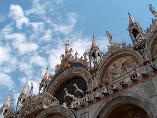 Venedig-Markuskirche - Markuskirche, byzantinisch, Außenansicht, Goldmosaik, Venedig, Kirche