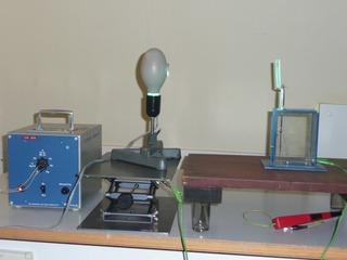 Der Fotoeffekt mit Elektroskop - Fotoeffekt, Quantenphysik, Quecksilberrdampflampe, Quecksilber, Zinn-Platte, Elektroskop, qualitativ