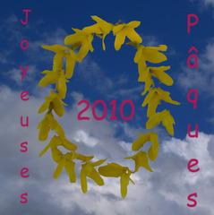 Ostergruß  französisch - Ostern, Ostergruß, Postkarte