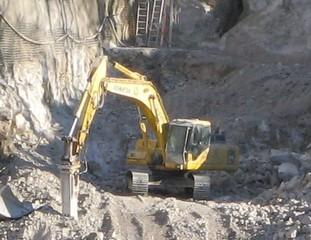 Bagger - Bauen, Baustelle, Bagger, Baumaschine, Baugrube, Ausheben, Schaufelbagger