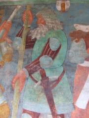 Fresko - Fresko, Malerei, Mittelalter, Burg, Freskomalerei, Frischmalerei, Wandmalerei, Wandbild