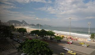 Copacabana #1 - Rio de Janeiro, Rio, Brasilien, Zuckerhut, Pao de Açucar, Morro da Urca, Granithügel, Wahrzeichen, Copacabana