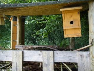 Insektenhotel #7 - Insektenhotel, Insekten, Wildbienen, Bienenhotel, Wespen, Bruthilfe, Höhlung, Nisthilfe, Überwinterungshilfe, Insektenhaus, Insektenschutz, Nistkästen, Vogelhaus, Naturmaterial