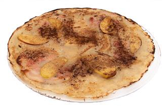 Pannekoeken met ham en appels - Pannekoeken, ham, appels, Pfannkuchen, Schinken, Äpfel, essen, backen, Lebensmittel, Nahrungsmittel, Mehlspeise, Holland, Niederlande, Mahlzeit