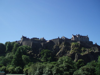 Edinburgh Castle - Edinburgh, Castle, Schloss, Park