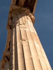 Kanneluren - dorische Säule - dorische Säulen, Kapitell, Kenneluren, Vertiefungen, Rillen, Marmor, Parthenon, Akropolis, griechischer Baustil, Säule