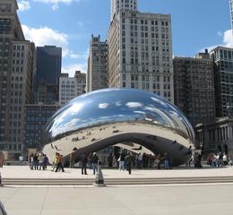 Chicago Cloud Gate - Chicago, Millenium Park, Sehenswürdigkeit, Tourismus, Wahrzeichen