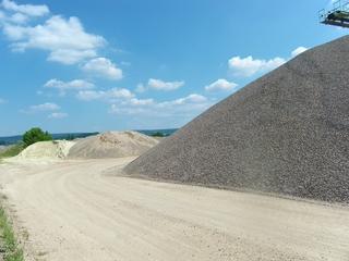 Kiesgrube1 - Sand, Kies, Kiesgrube, Flussablagerungen, Baumaterial, Fluss, Sedimente, Weser, Sieb