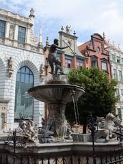 Danzig #3 - Danzig, Polen, Brunnen, Wasser, Architektur, Städtebau