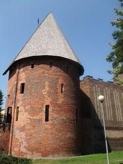 Hexenturm in Slupsk - Festung, Stadtmauerturm, Backstein, Befestigung, Stadtbefestigung, Architektur