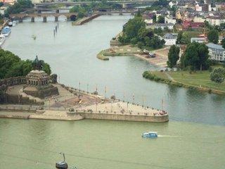 Deutsches Eck#1 - Deutsches Eck, Koblenz, Rhein, Mosel, Festung, Fluss, Geschichte
