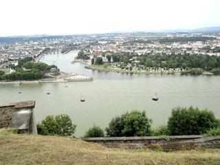 Deutsches Eck#2 - Deutsches Eck, Koblenz, Fluss, Mosel, Rhein, Zusammenfluss, Festung, Seilbahn