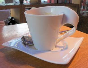 Tasse für Rechtshänder - Tasse, Geschirr, Rechtshänder, trinken, Kaffee, Kaffeetasse, Haushalt, kurios